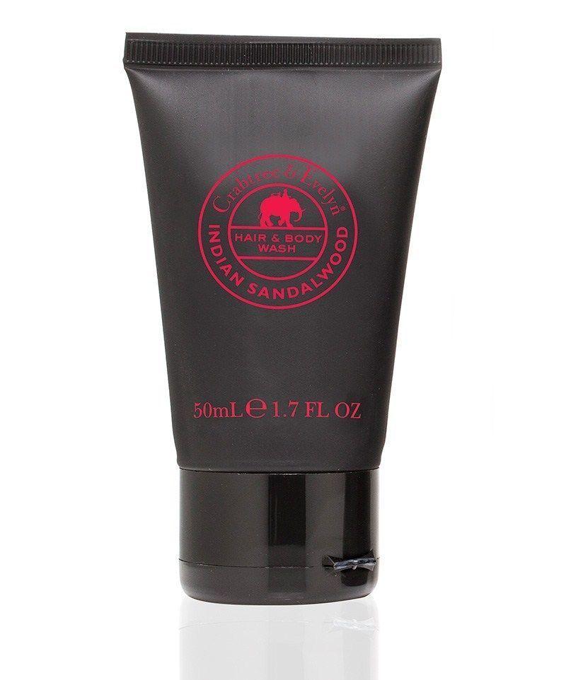 Crabtree & Evelyn INDIAN SANDALWOOD Hair & Body Wash Shower Gel 1.7oz Mens NeW - $13.63