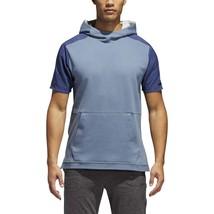Adidas Squad Short Sleeve Hoodie Men's MEDIUM M Multisport CV3286 RAW ST... - $69.99
