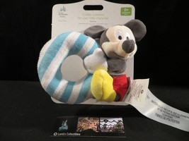 Disney Store Authentic Mickey Mouse Infant plush baby rattle - $17.80