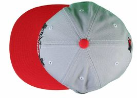 Gold M.V.P. Grey Red Fast Life Speedboat Starter Snapback Baseball Cap Hat NWT image 3