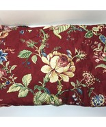 "6 Yards Burgundy Floral Heavy Weight Fabric 56"" wide Montage Waverly Hom... - $72.55"