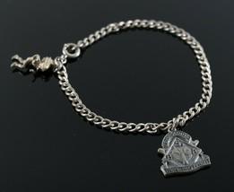 Vintage .925 Sterling Silver Signed N6 Cub Scout Den Mother Charm Bracel... - $22.49