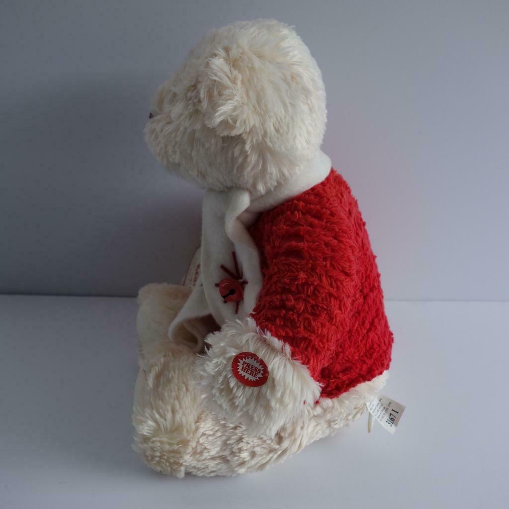"Hallmark Jingle Bear Soft Plush Bear Plays Jingle Bells 13"" High image 4"