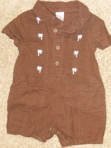 Gymboree Little Surfer Dude Brown Palm Tree Baby Boy 1 Pieces NWT 6 12 Mos