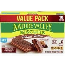 Nature Valley Biscuits, Chocolate Peanut Butter, 10 Ct Value Pack, - $10.00