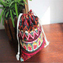 National Style Small Storage Bag Handmade Draw String Beam Pocket Drawst... - €1,48 EUR