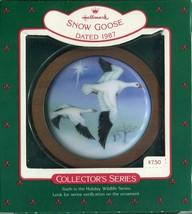 1987 - New in Box - Hallmark Christmas Keepsake Ornament - Snow Goose - $4.94