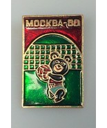 1980 Olympics Volleyball pin badge Russia Misha Bear Mascot olympic coll... - $17.99