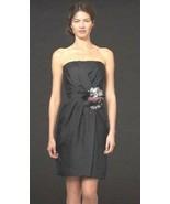 Banana Republic BR Monogram silk Starburst Strapless Black Dress 6 $165 - $66.83