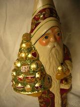 Vaillancourt Folk Art Brocaded Coat Santa Signed by Judi Vaillalncourt image 5