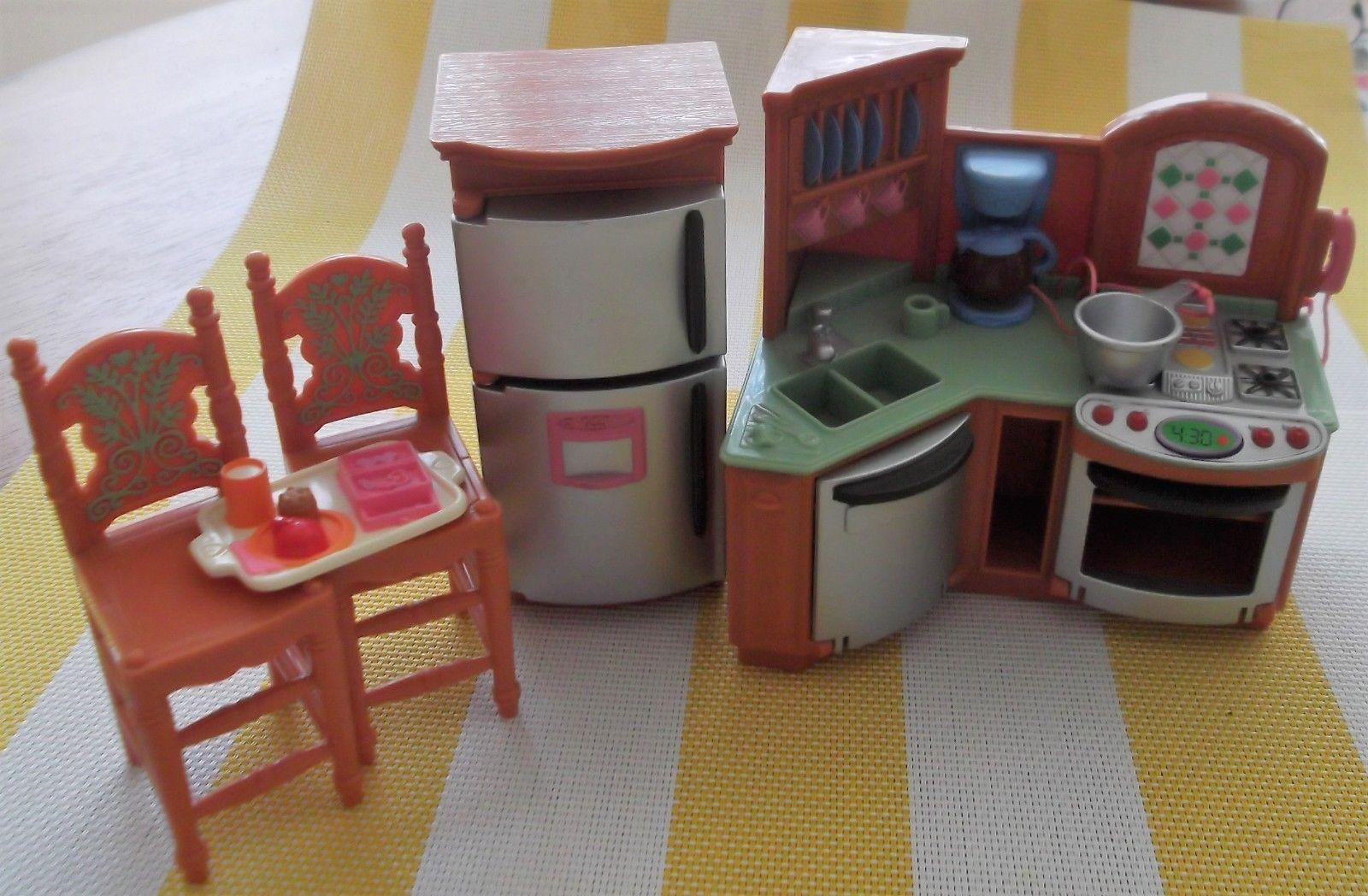 Fisher Price Loving Family Dollhouse Kitchen Set 5 Pcs Sounds