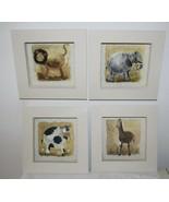 Animals Prints for Nursery - Set of 4 (Four) 6x6.5 Cow, Elephant , Lion,... - $12.86
