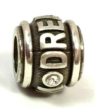 Brighton Marquee Dream Bead Charm, J95592, Brushed Silver Finish, New - $12.34