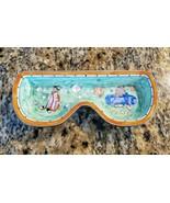 Kelvin Chen Enameled Metal Glasses/Trinkets Tray Holder 2001 SPORTS No 2408 - $23.99