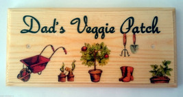 Dads Veggie Patch Sign, Vegetable Dad Gift Fathers Day Garden Allotment ... - $12.60