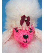 Amigurumi PINK Poodle Show Dog Crochet Handmade Figurines Gifts by Bren - $1.509,63 MXN