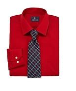 Mens StaffordTravel Easy Care regular fit dress Shirt + tie set L 161/2 ... - $14.70