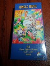 New Sealed Jungle Music 63 Piece Kids Jigsaw Puzzle by SunsOut (USA SHIPS FREE) - $12.83