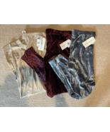 Eye Candy Metallic Iced Velvet Leggings Choice Blue 1X Gold XL or Red 3X... - $14.00