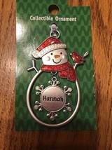 "Christmas Tree Ornament Snowman ""Hannah"" Vintage Rare Ships N 24h - $11.86"