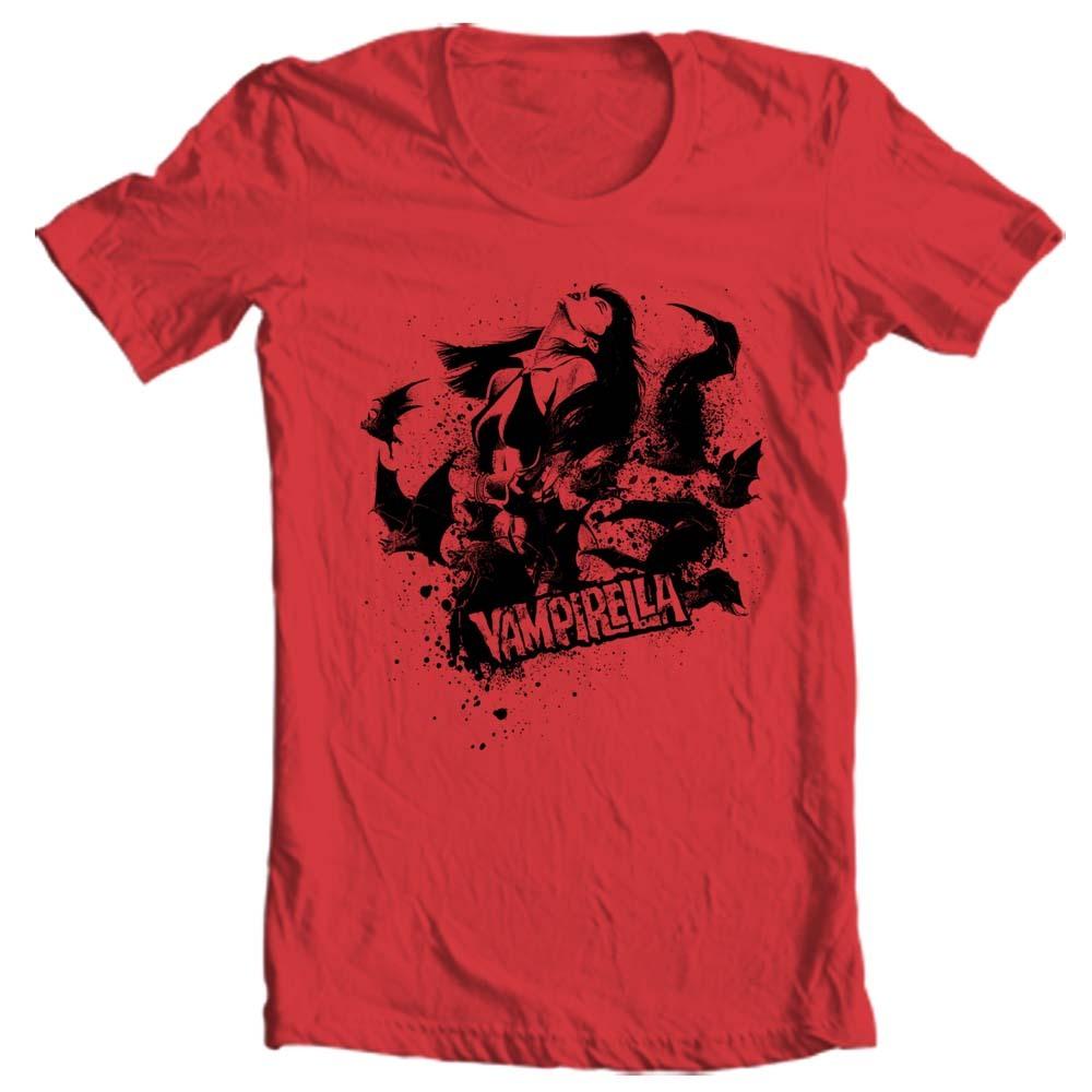Vampirella t shirt vmp117 retro horror comics pin up girls for T shirt graphics for sale