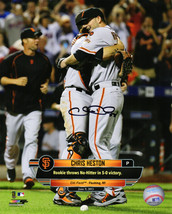 CHRIS HESTON Signed SF Giants June 9, 2015 No-Hitter Celebration 8x10 Ph... - $22.39