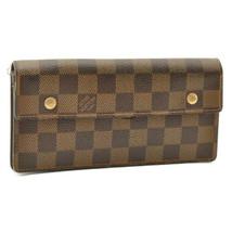 LOUIS VUITTON Damier Ebene Portefeuille Accordion Wallet N60002 9522 No ... - $197.73