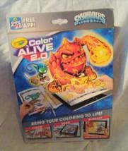 SKYLANDERS Crayola Color Alive 2.0 Interactive Coloring Book w/crayons - $9.96