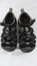 KEENS SEACAMP II CNX KIDS SZ 12 BLACK WATERPROOF WATER HIKING SANDALS! - $19.79