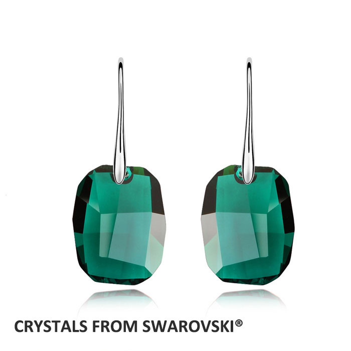 2019 Charming Rectangle Drop Earrings With Crystal from swarovski Vintage Weddin