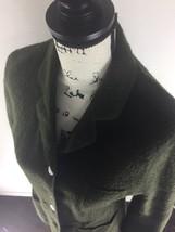 JONES NEW YORK Country Essentials Button Front Green Wool Coat Women's S... - $22.16