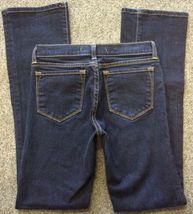 Anthropologie J BRAND Jeans Straight 805 Ink Dark Wash Low Rise Size 24 Women's image 5