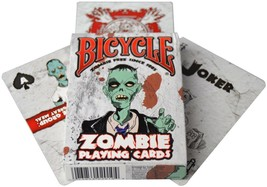 Bicycle Zombie Playing Cards Tips for Surviving NEW SEALED BOX Halloween... - $5.99