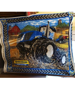 New Holland Agriculture Mud Truck Fleece Fabric Panel - $24.99
