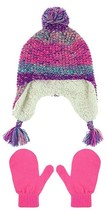 Capelli Girls Earflap Hat With Faux Berber Lining and Mittens Set (size ... - $11.87