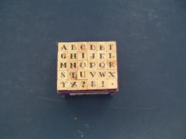 mini studio G alphabet stamp set capital letters NOS - $12.17