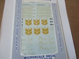 Microscale Decals Stock #87-718 Canadian Wheat Board 4-Bay Cylindrical Hopper HO image 3