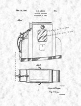 Gasoline Dispenser Patent Print - Gunmetal - $7.95+