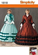 Simplicity Ladies Sewing Pattern 1818 Civil War Elegant Dresses Costumes - $24.45