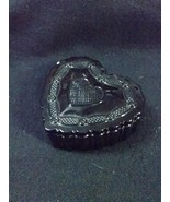 AVON CAPE COD RUBY RED HEART SHAPED TRINKET JEWELRY BOX 1876 Collection - $19.97