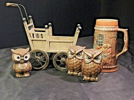 Replica Baby Carriage Owls and Stein AA21-1079 Vintage    - $49.95