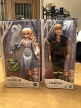"Frozen II LOT (2) (Elsa, Kristoff) Figure 12"" Doll 2019 NEW In Box Disne... - $54.45"