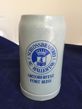 Oktoberfest Beer Stein Fort Bliss Gray Stoneware Schlossbrauerei Germany... - $17.79