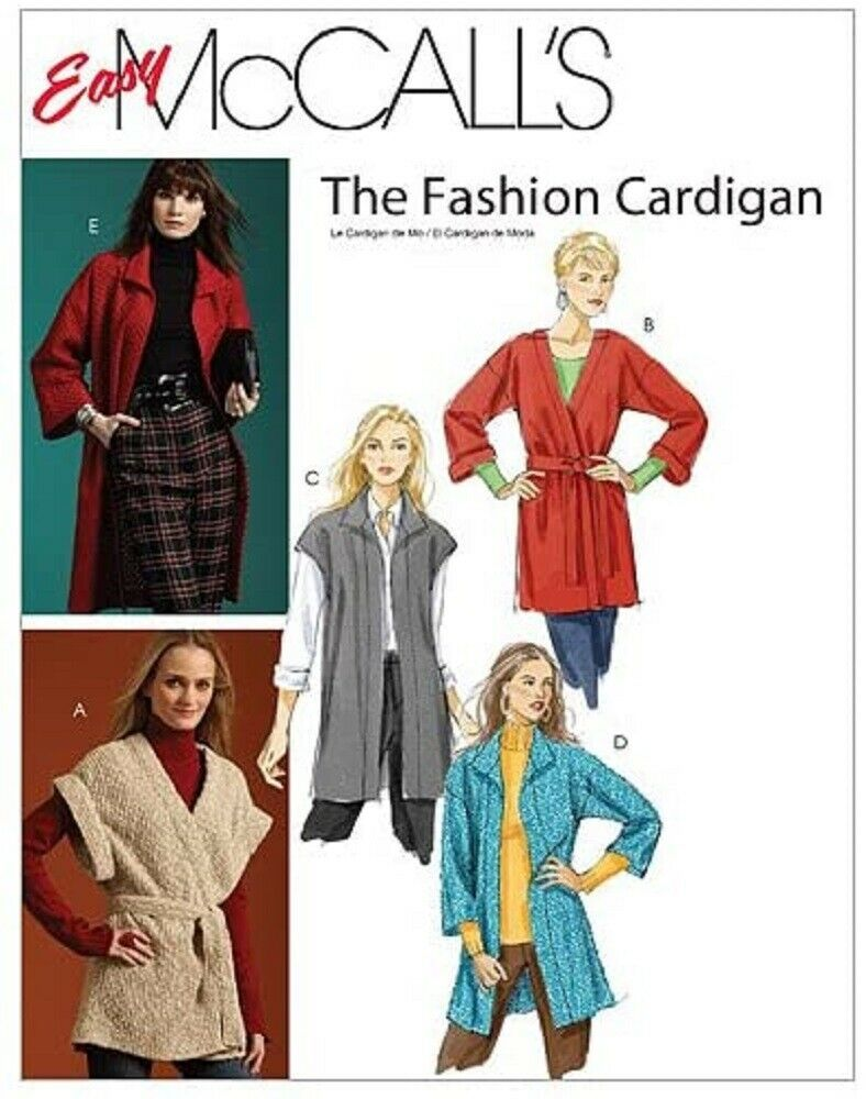 McCall's Sewing Pattern M5932 Easy Misses Cardigan 2 Lengths Belt Size XS S M - $9.89