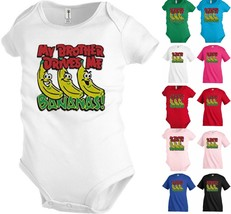 My Brother drives me bananas Kids T shirt Youth Baby Toddler bodysuit KP324 - $12.99