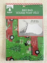 "Christmas House Plastic BIKE BAG  ""60 x 72""  w/ Snowman Red Car Christma... - $6.49"