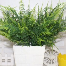 New 10pcs/lot Plastic Fern Artificial Plant Green Leaf Foliage Floral De... - £16.80 GBP