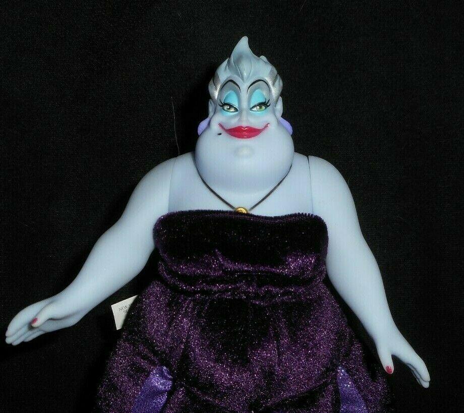 """12"""" Tienda Disney Pequeña Sirena Ursula Muñeca Sea Witch Peluche Plush Toy"""