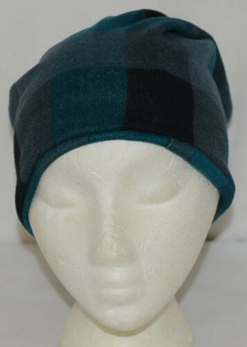 Howards Arianna Collection Buffalo Plaid Convertible Hat Adult Teal Black