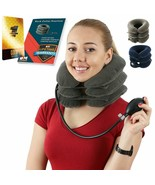Cervical Neck Traction   Air Neck Therapy   Adjustable Neck Stretcher Co... - $27.62